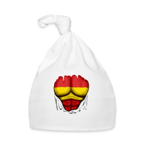 España Flag Ripped Muscles six pack chest t-shirt - Baby Cap