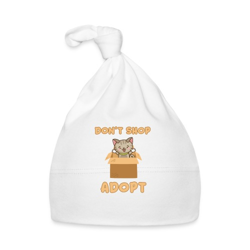 ADOBT DONT SHOP - Adoptieren statt kaufen - Baby Mütze