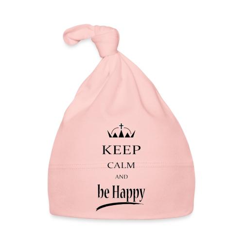 keep_calm and_be_happy-01 - Cappellino neonato