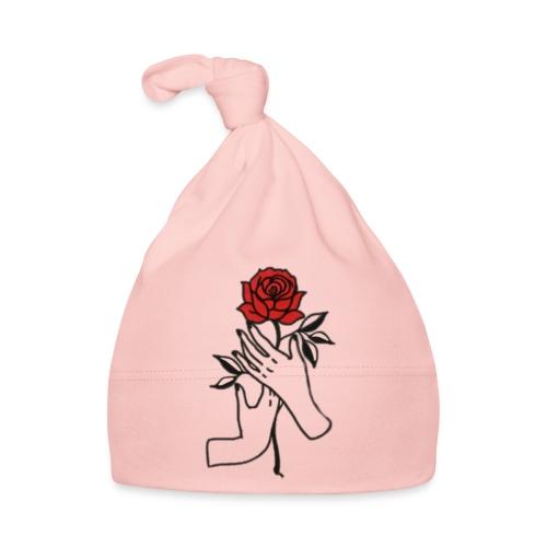 Fiore rosso - Cappellino neonato