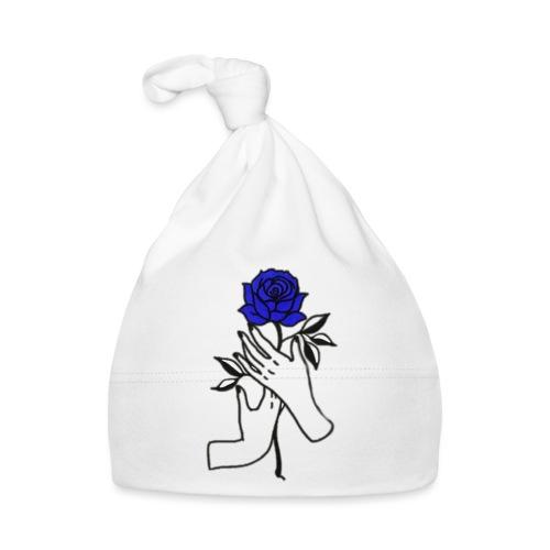 Fiore blu - Cappellino neonato
