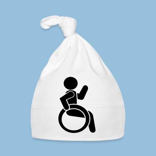 Waving wheelchair user 001 - Muts voor baby's