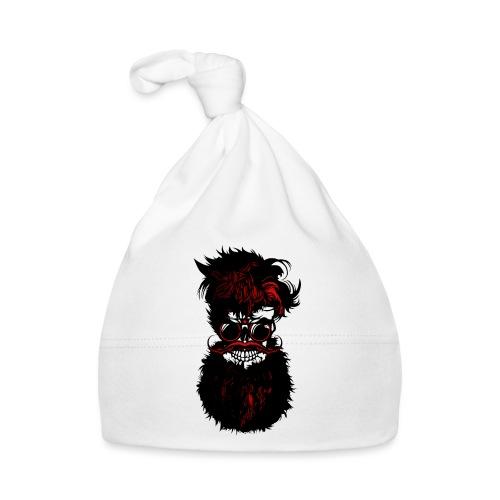 tete de mort barbu skull hipster barbe crane moust - Bonnet Bébé