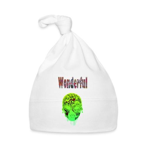 Maske mit Wonderful Schriftzug - Baby Mütze