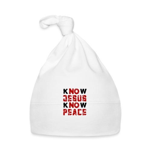 Know Jesus Know Peace (Flower Design) - Baby Mütze