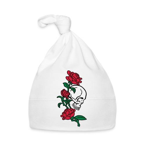 teschio e rose es123_2 - Cappellino neonato