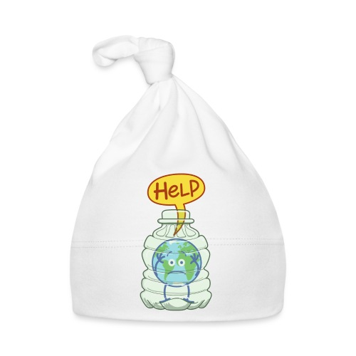 Earth inside a plastic bottle asking for help - Baby Cap