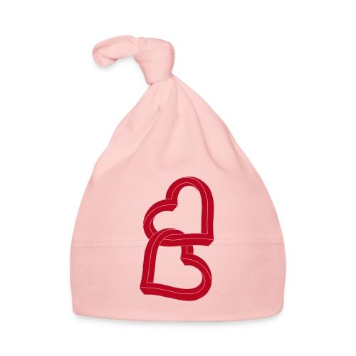 Due cuori uniti ca27 - Cappellino neonato