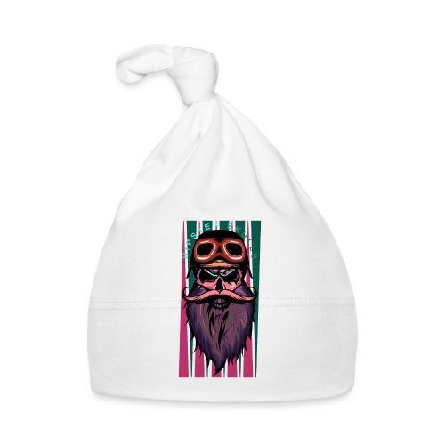 tete de mort hipster crane slull barbe moustache p - Bonnet Bébé