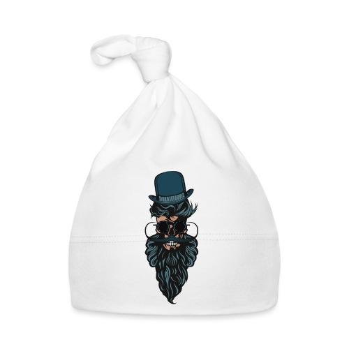 tete de mort crane chapeau barbu barbe moustache l - Bonnet Bébé