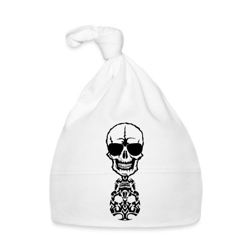 tete mort skull tribal reflet dead death - Bonnet Bébé