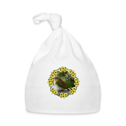 Vögelchen im Blumenkranz - Baby Mütze