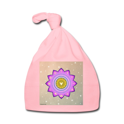 0 1 Dove Surrounded by Religious Symbols. - Baby Cap
