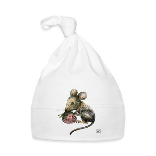 Mausemädchen mit Erdbeere - Baby Mütze