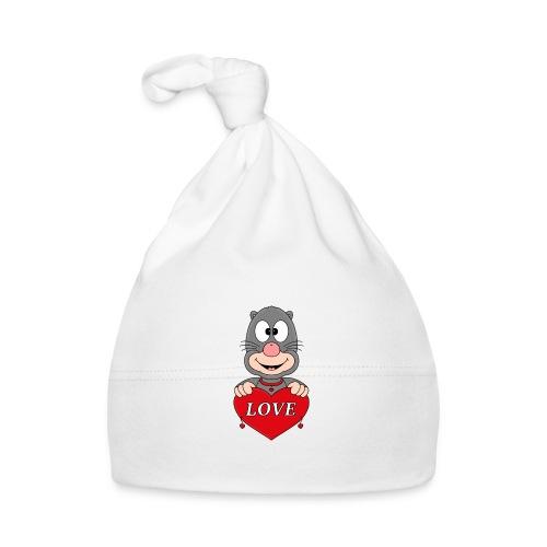 Lustiger Maulwurf - Herz - Liebe - Love - Fun - Baby Mütze