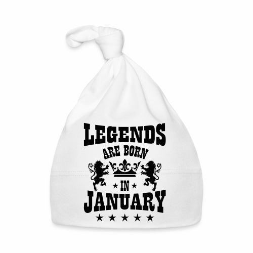 Legends are born in January Lions Crown Birthday - Baby Mütze
