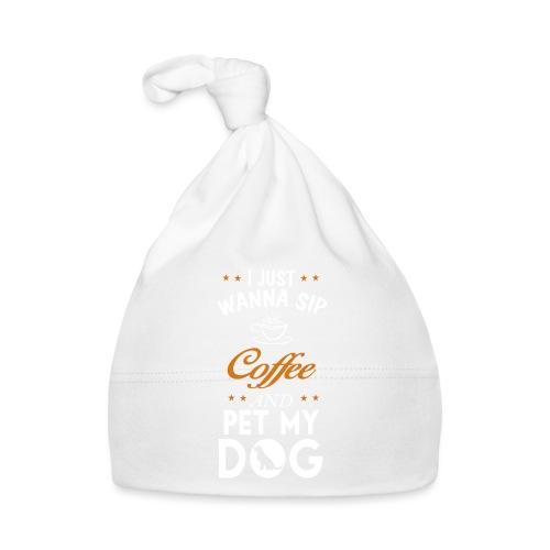 Kaffee trinken und Hunde streicheln - Happy! - Baby Mütze