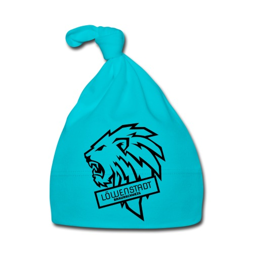 Löwenstadt Design 9 schwarz - Baby Mütze