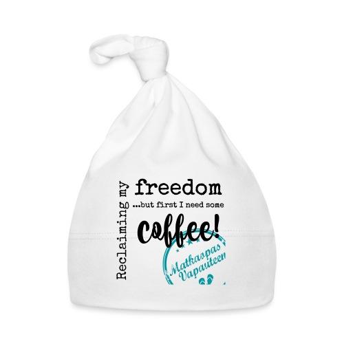 Kahvimuki Matkaopas Vapauteen, turkoosi - Vauvan myssy