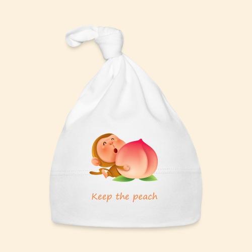 Monkey Keep the peach - Bonnet Bébé