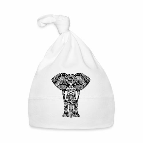 Ażurowy słoń - Czapeczka niemowlęca