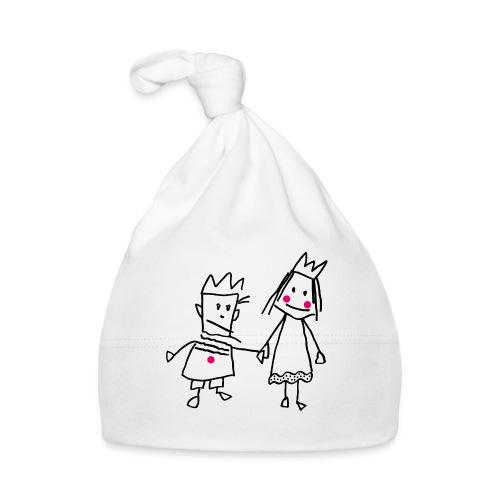 Strichmännchen verliebtes Königspaar Valentinstag - Baby Cap