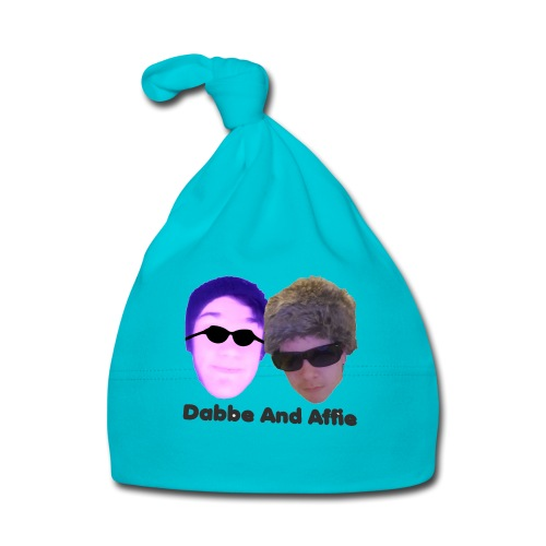 Dabbe And Affie Svart Text - Babymössa