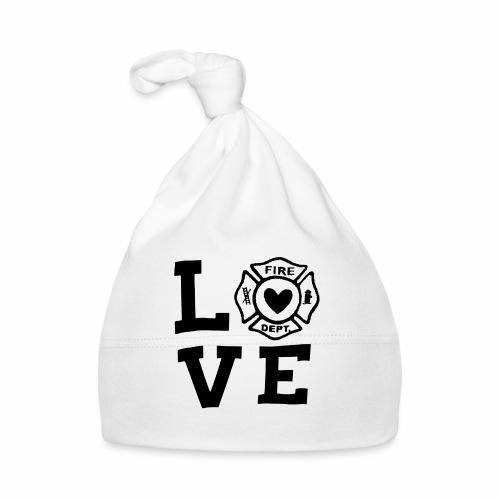 Black Design Love Firefighter - Baby Mütze