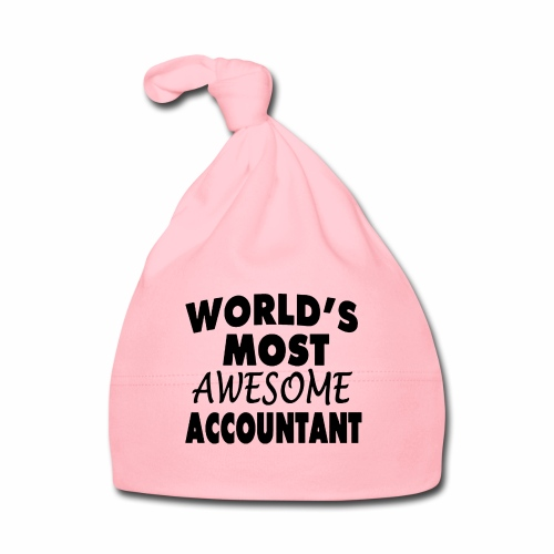 Black Design World s Most Awesome Accountant - Baby Mütze