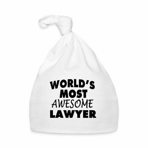Black Design World s Most Awesome Lawyer - Baby Mütze