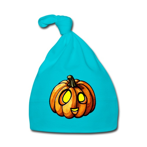 Pumpkin Halloween watercolor scribblesirii - Baby Cap