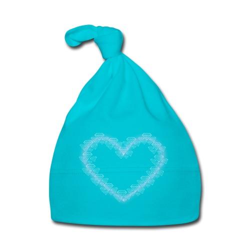 Diamant Herz mit Herz Rosa - Baby Mütze