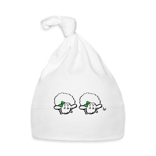 Baby Lamb Twins (grön & grön) - Babymössa