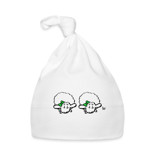 Baby Lamb Twins (verde y verde) - Gorro bebé