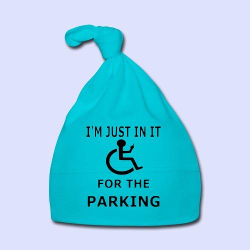 Ik zit in de rolstoel voor de parkeerplaatsen - Muts voor baby's
