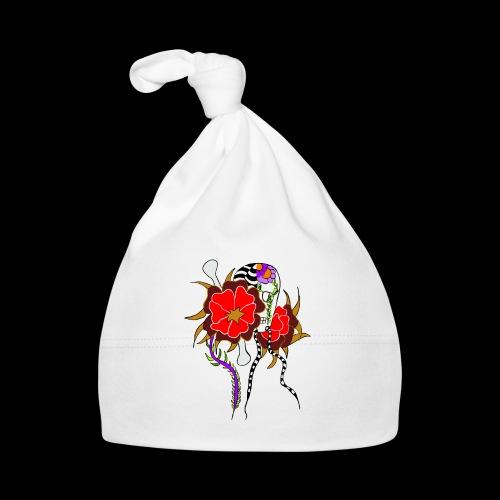 Le skull et les fleurs rouges - Bonnet Bébé