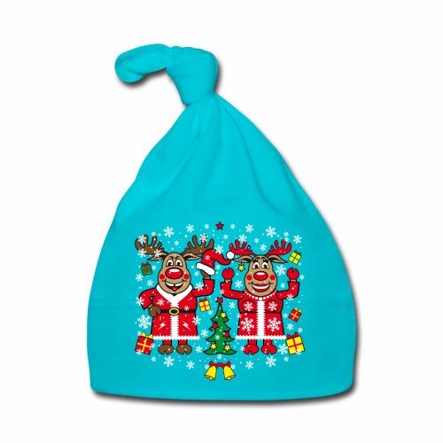 80 Hirsch Rudolph Frau Rudolphine Jingle Bells - Baby Mütze