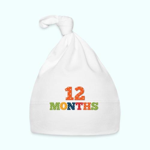 Twelve 12 months old baby print photography prop - Baby Cap