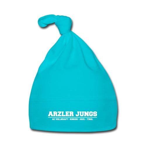 Arzler Jungs Schriftzug weiß - Baby Mütze