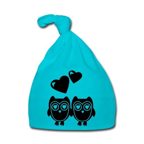 verliebte Eulen - Baby Mütze