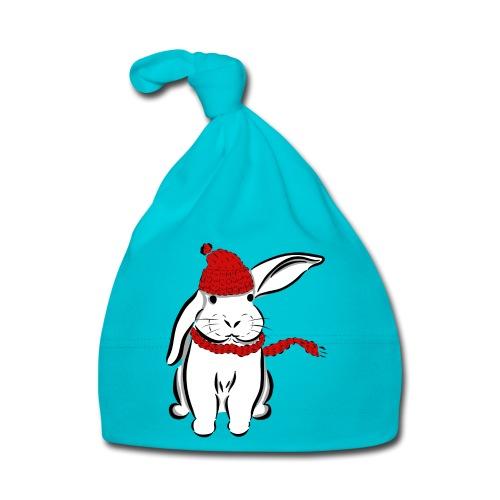 Kaninchen Hase Mütze Schal Schlappohr Schneehase - Baby Mütze