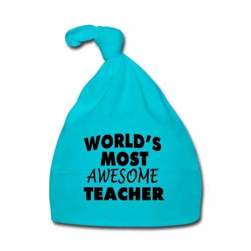 Black Design World s Most Awesome Teacher - Baby Mütze