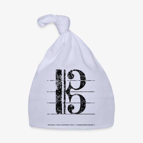 Tenorschlüssel - Notenschlüssel Cello / Posaune - Baby Mütze