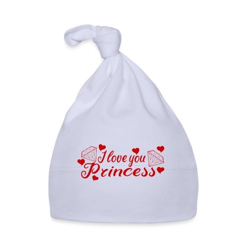 I Love you Princess mit Diamanten und Herzchen - Baby Mütze