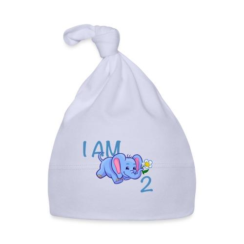 I am 2 - elephant blue - Baby Cap