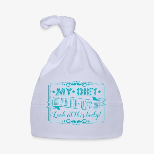 Handlettering My diet paid off (Turqoise) - Muts voor baby's