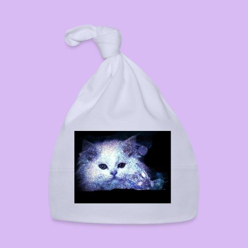 Gatto bianco glitter - Cappellino neonato