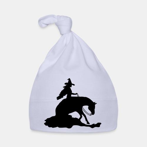 Hexe auf Westernpferd, Sliding Stop - Baby Mütze