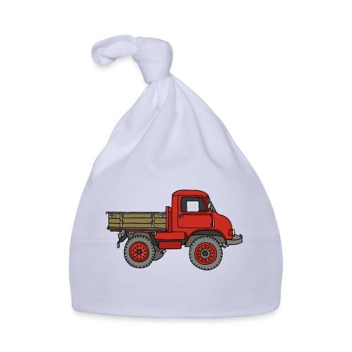 Roter Lastwagen, LKW, Laster - Baby Mütze