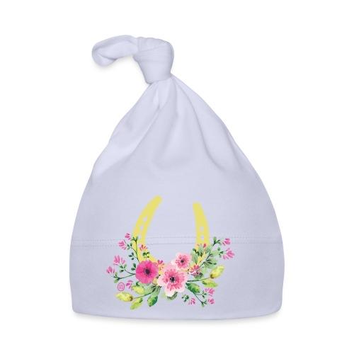 Blumen Hufeisen - Reitbekleidung - Baby Mütze